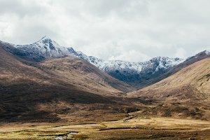 Mountain Range in Autumn Light