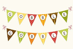 Cute Thanksgiving bunting flags
