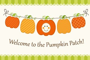 Cute bunting with pumpkins