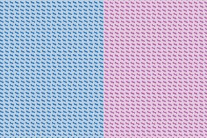 Geometric Patterns | Pink & Blue