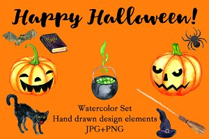 Halloween Watercolor Set