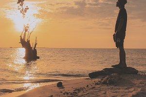 The Man Waiting Sunset