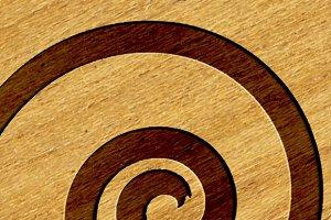 Logo Mock-ups - Wood Style
