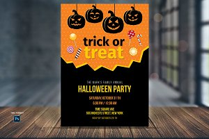 Trick or Treat Candy Invite Template