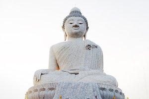 Big marble buddha statue on Phuket island, Thailand