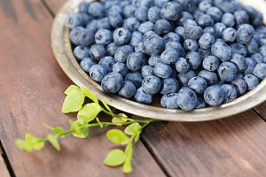 Fresh ripe blueberries outdoors