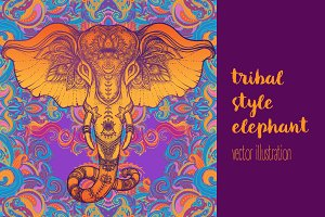 Tribal Style Elephant