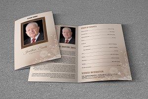 Funeral Program Template-T600
