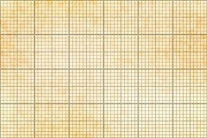 One millimeter grid on old paper