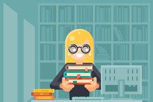 Librarian girl