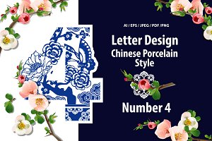 Number Four Design in Chinese Style