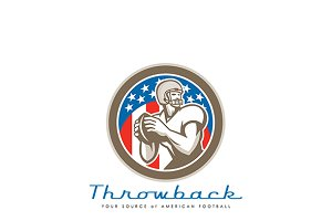 Throwback American Football Logo