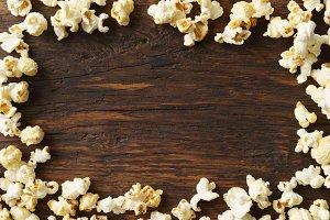 Frame of popcorn