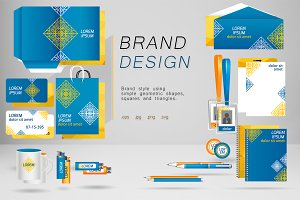 Stationary with brand design set