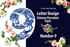 Number Nine Design in Chinese style