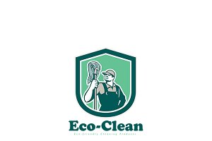Eco-Clean Cleaning Products Logo