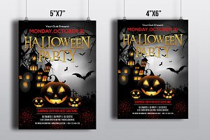 Halloween Party Flyer Template-V389