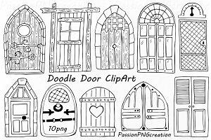 Doodle Doors Clipart