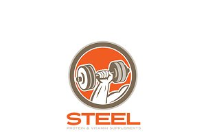Steel Protein Supplements Logo