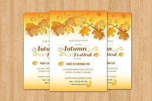 Autumn Festival Flyer Template-V390