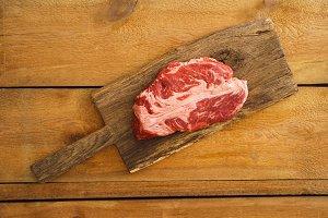 Uncooked chuck-eye-steak