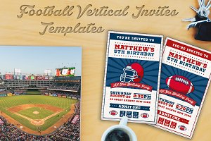 Football Ticket Party Invites 3