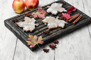 Cookies and autumn apples