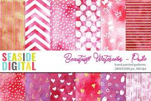Beautiful Watercolor Patterns-Pinks