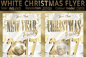 White Christmas New Year Party Flyer