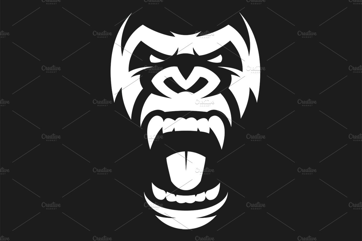Angry gorilla symbol ~ Illustrations ~ Creative Market - photo#45