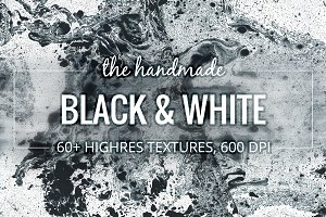 Black & White. 60+ Textures pack