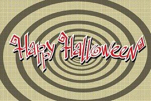 Happy Halloween retro background