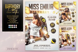Bithday Party Flyer Template