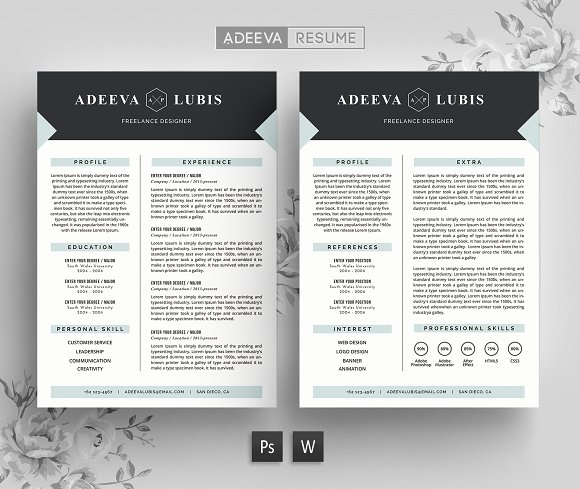 modern resume template lubis resumes