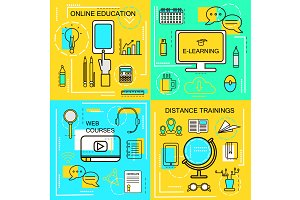 Online Education Banners