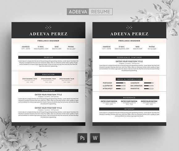 modern resume template - Template Resumes