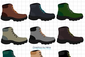 Military Boots Clipart