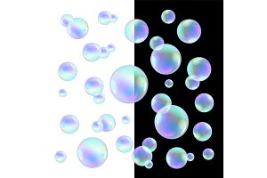 Realistic soap bubbles