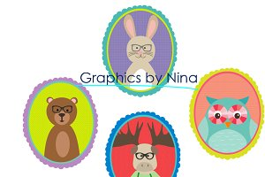 Animal Frames Clipart