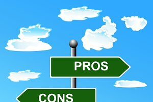 Pros, cons, street, signs, comparing
