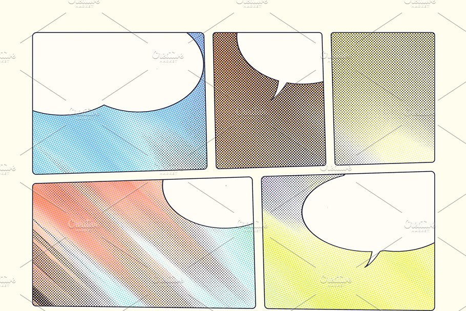 Comic book backgrounds