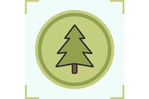 Fir tree icon. Vector