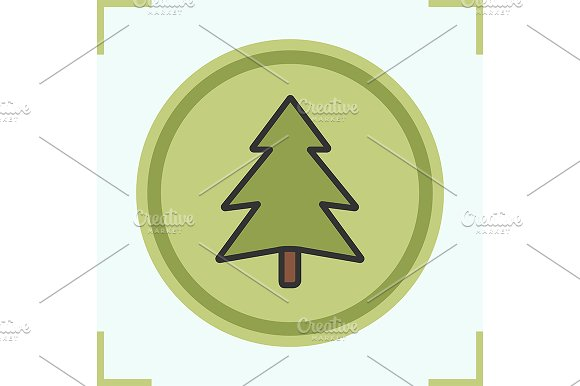 Fir tree icon. Vector - Icons