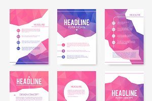 Brochure abstract design vector