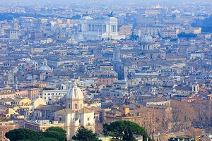 Rome City top view, Italy.