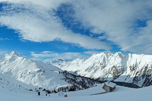 Winter mountain panorama (Austria).