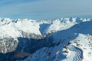 Winter mountain panorama (Austria).