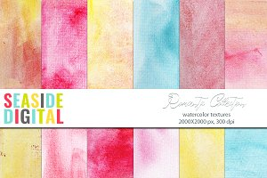 Watercolor Textures - Romantic Set
