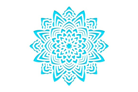 Template snowflakes laser cut. SVG ~ Card Templates ~ Creative Market