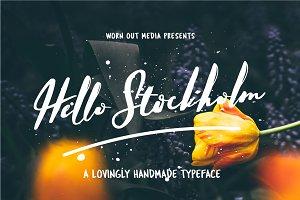 Hello Stockholm - Handmade Typeface